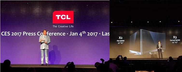 """当地时间1月4日,TCL多媒体在拉斯维加斯召开""""This is SMART TV""""全球新闻发布会,重磅发布高端副品牌——XESS创逸电视新旗舰X2、X3。"""