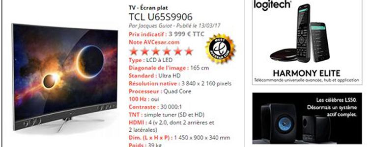 TCL量子点电视XESS X1再次震惊法媒