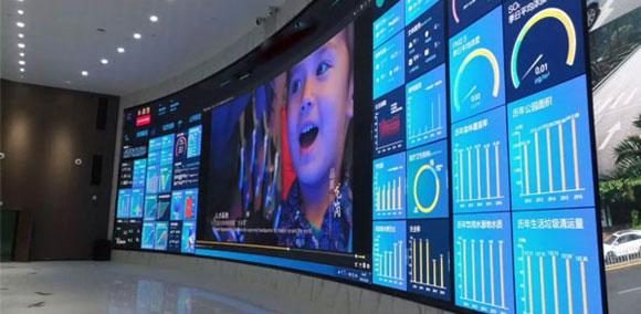 艾比森全球最大智慧城市小间距LED