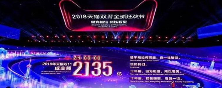 2018年双十一电商节,毫无悬念的再破记录:阿里系全天销售额高达2135亿、京东1598亿元双双超越去年双十一成绩。